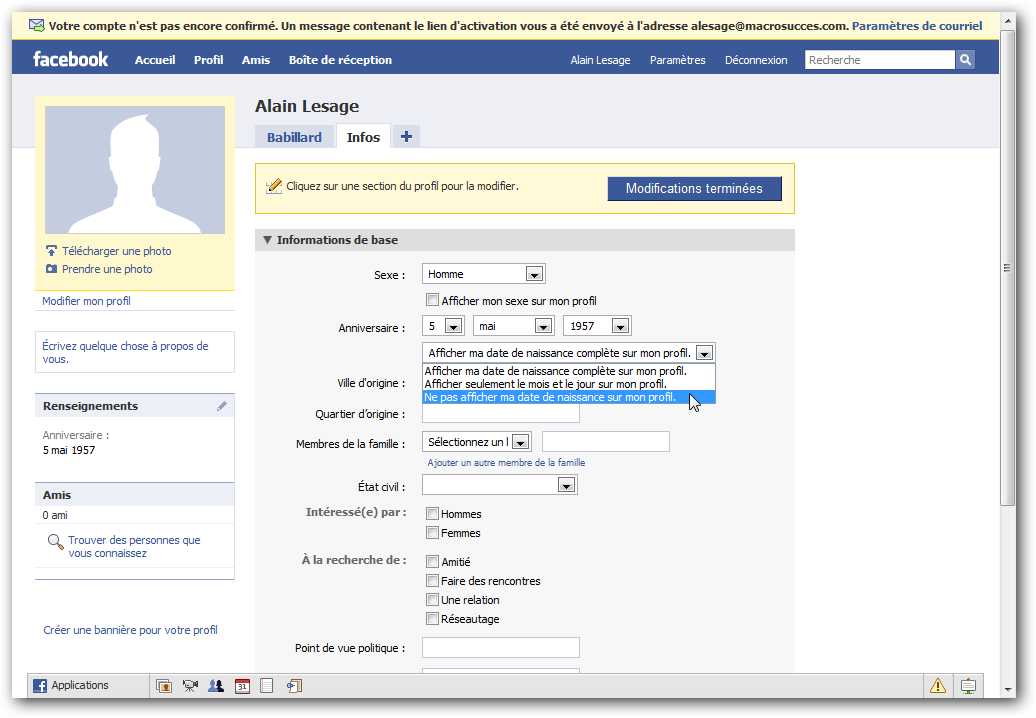 cr u00e9e une page facebook et la configurer facilement sur son profil fan