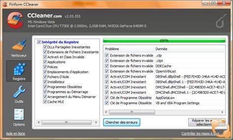 Nettoyer Votre PC et la Base de Registre de Windows avec CCleaner