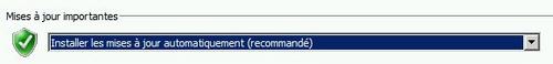 Choisir l'option Installer Les mises à jour automatiquement