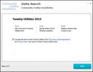 Delta Search est une barre de PUPs et lors de son installation, l'installation d'un autre PUP est activée par défaut