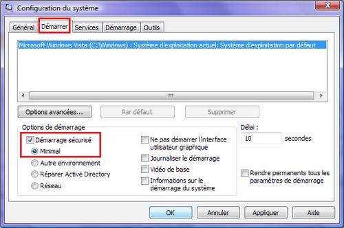 Démarrer en mode sans échec avec Windows 7, Vista et XP