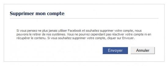 Supprimer Facebook définitivement