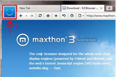 Vous pourrez activer Maxthon en allant dans le Menu puis Options puis Avancé